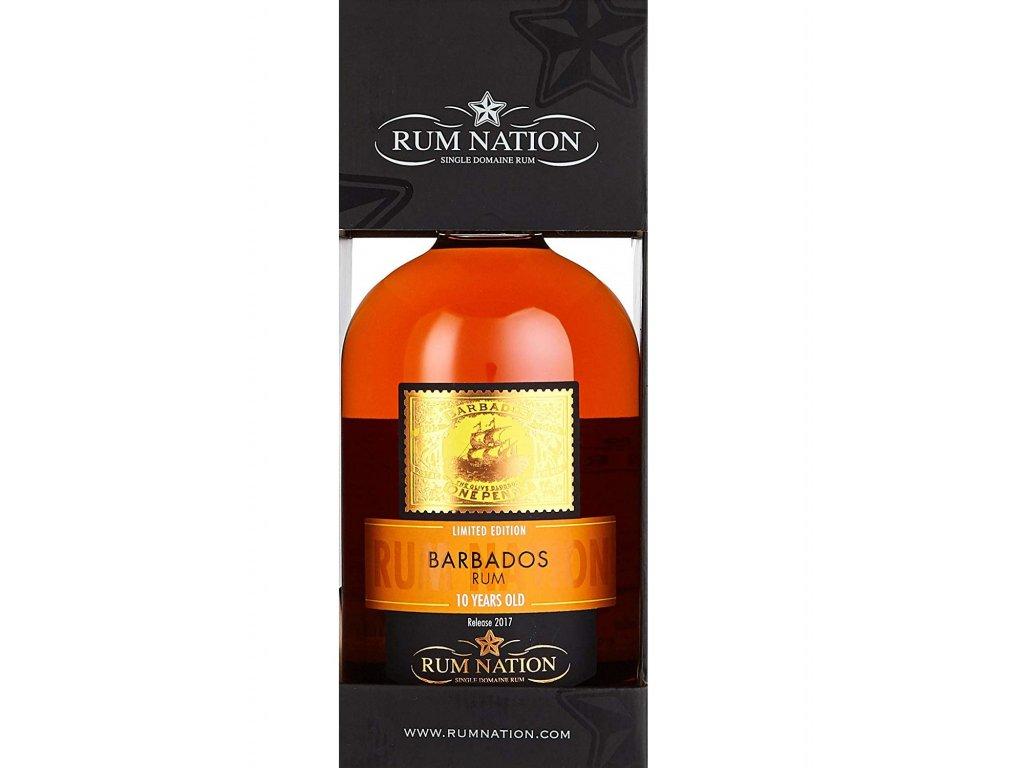 Rum Nation 10 Y.O. Barbados 0,7l