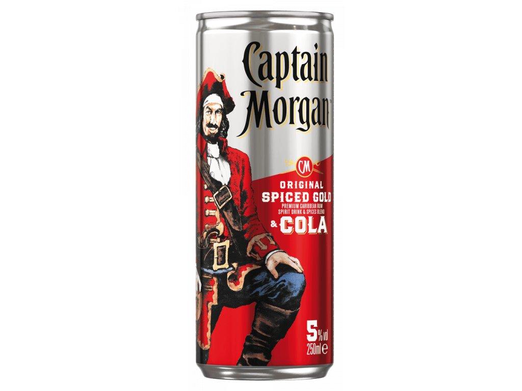 Captain Morgan Original Spiced Gold & Cola 5% 0,25l Plech x6