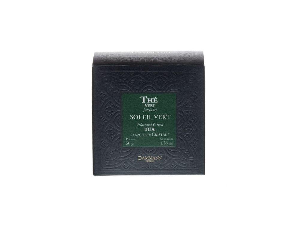 Dammann Fréres Sachets Box Soleil Vert, aromatizovaný, 25 x 2 gr. 3792, zelený čaj, porciovaný, v krištáľových sáčkoch
