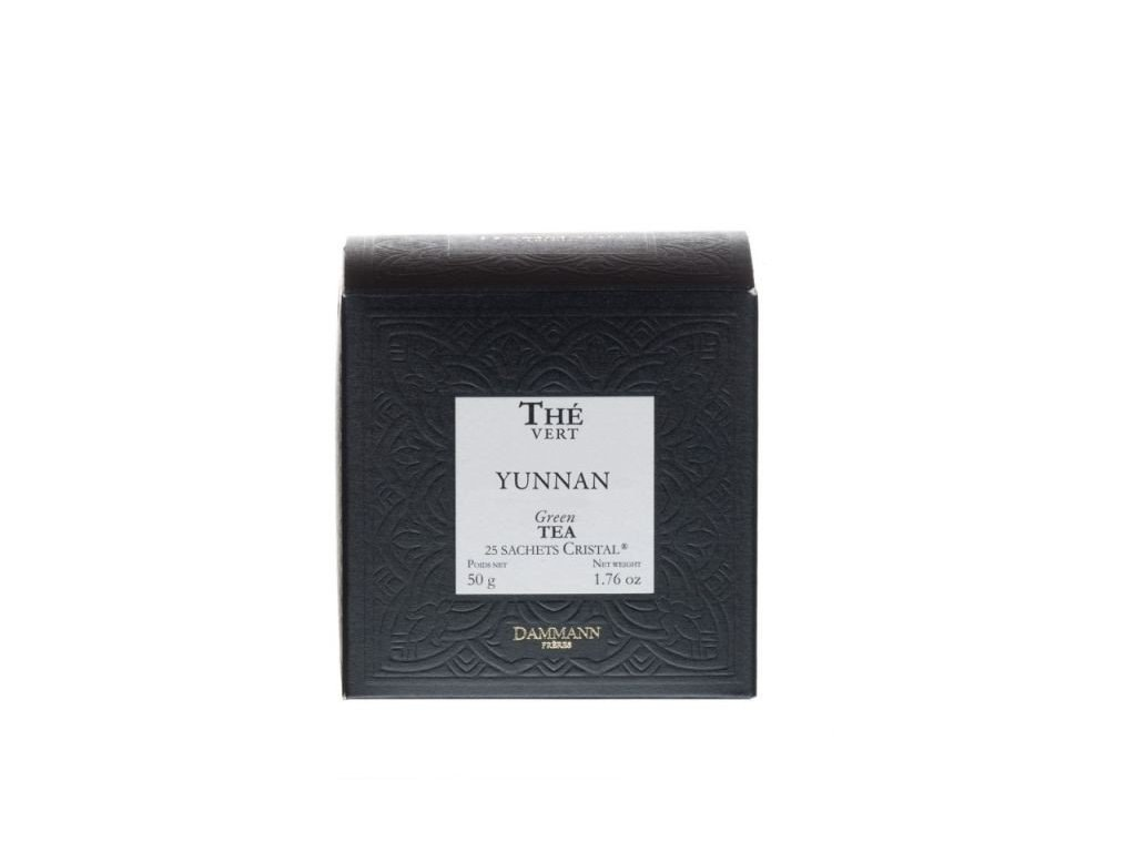 Dammann Fréres Sachets Box Yunnan Vert, 25 x 2 gr. 6978, zelený čaj, porciovaný, v krištáľových sáčkoch