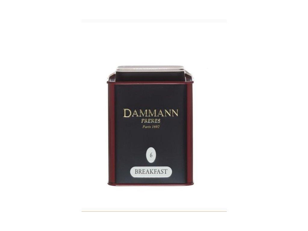 Dammann Fréres La Boite Breakfast N°6, 100 gr. 6751, čierny čaj, sypaný, v plechovej dóze