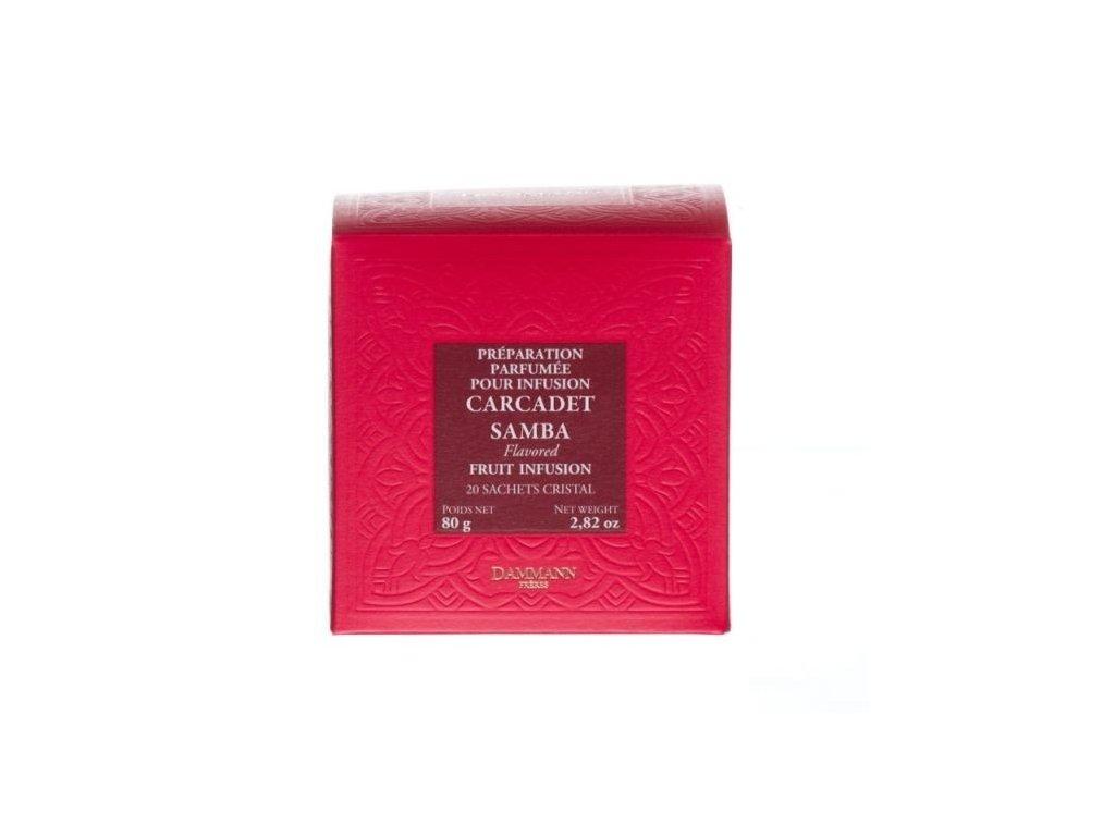 Dammann Fréres Carcadet Samba, ochutený, 20 x 4 gr., box 4276, ovocný čaj, sypaný, v krištáľových sáčkoch