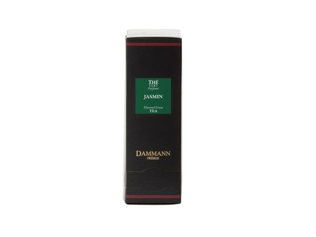 Dammann Fréres Sachets Vert Jasmin - zelený jasmín, ochutený, 24 x 2 gr., 4979, zelený čaj, porciovaný, v krištáľových sáčkoch, hygienicky balené