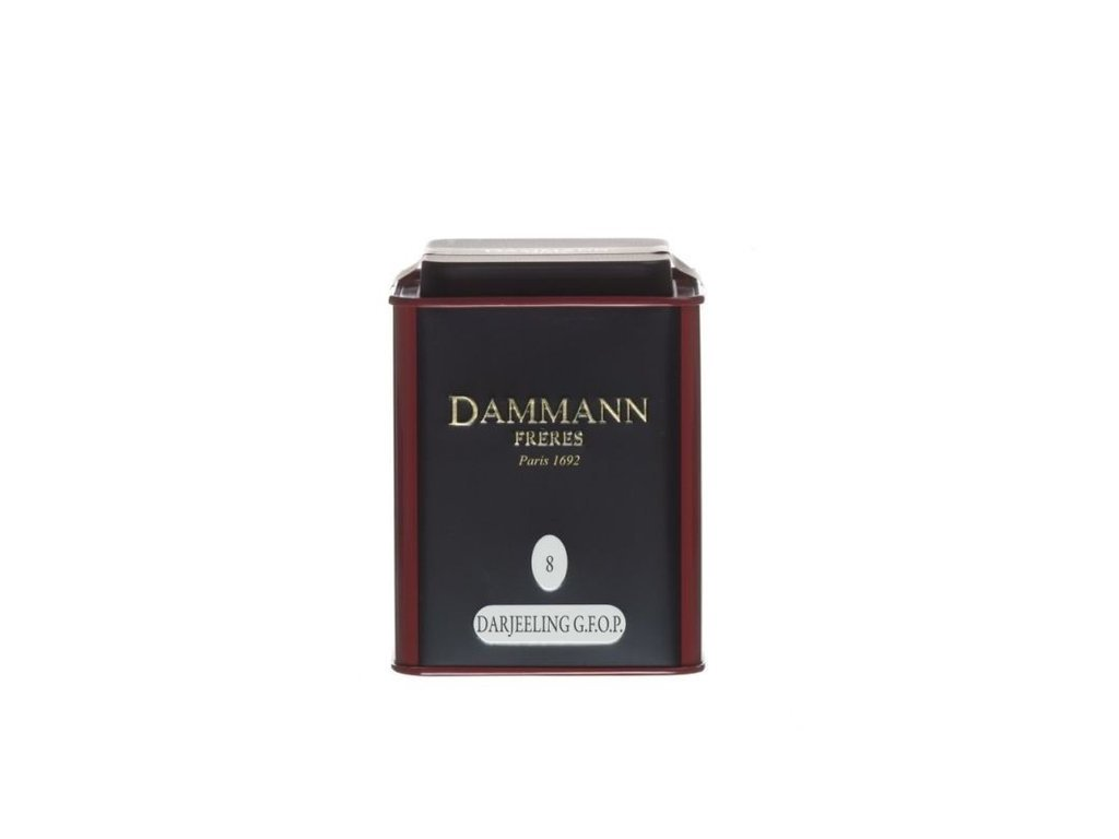 Dammann Fréres La Boite Darjeeling GFOP N°8, 100 gr. 6753, čierny čaj, sypaný, v plechovej dóze