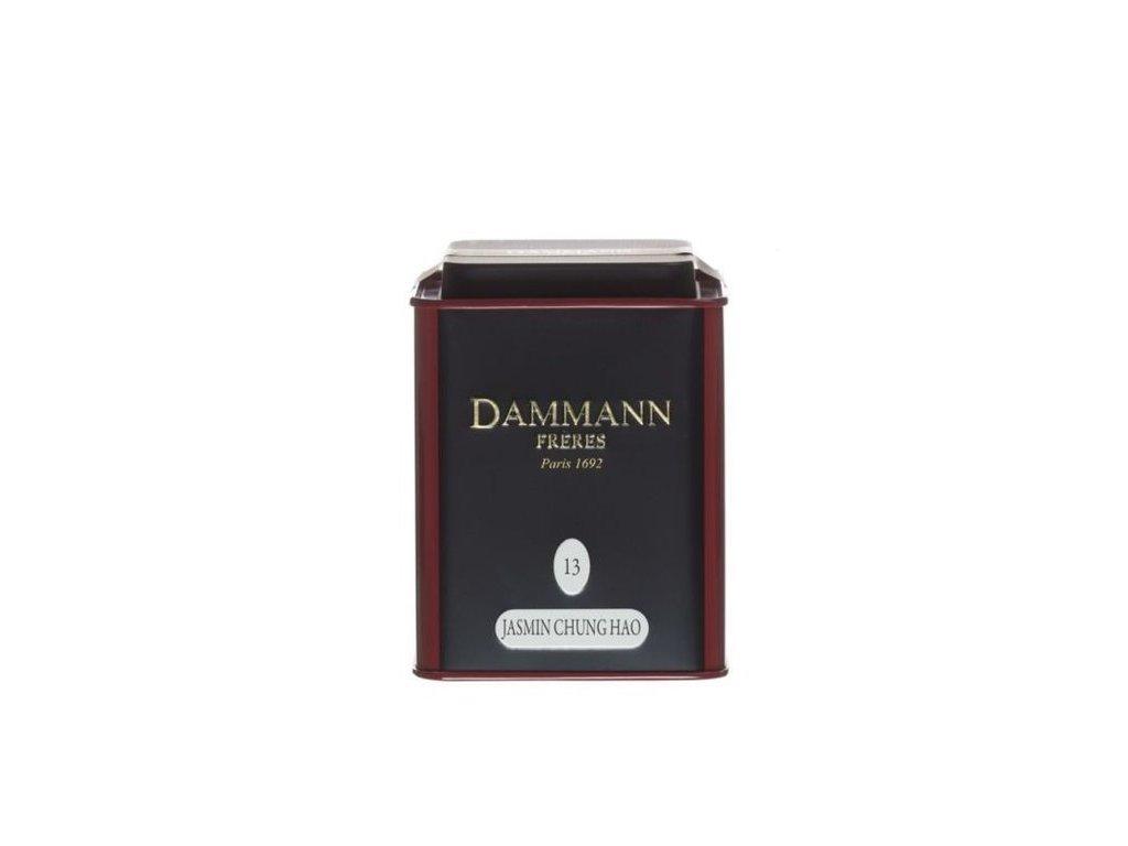 Dammann Fréres La Boite Jasmin Chung Hao N°13, ochutený, 100 gr. 6758, zelený čaj, sypaný, v plechovej dóze