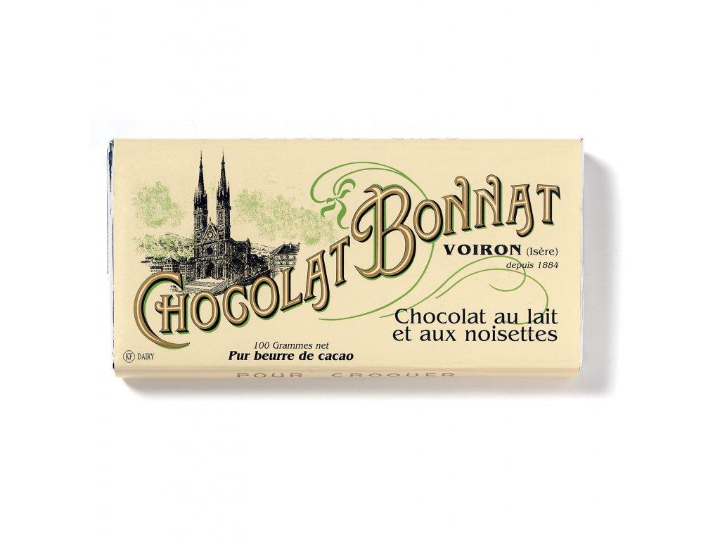 Čokoláda Bonnat Lait 55% Noisettes, 100g