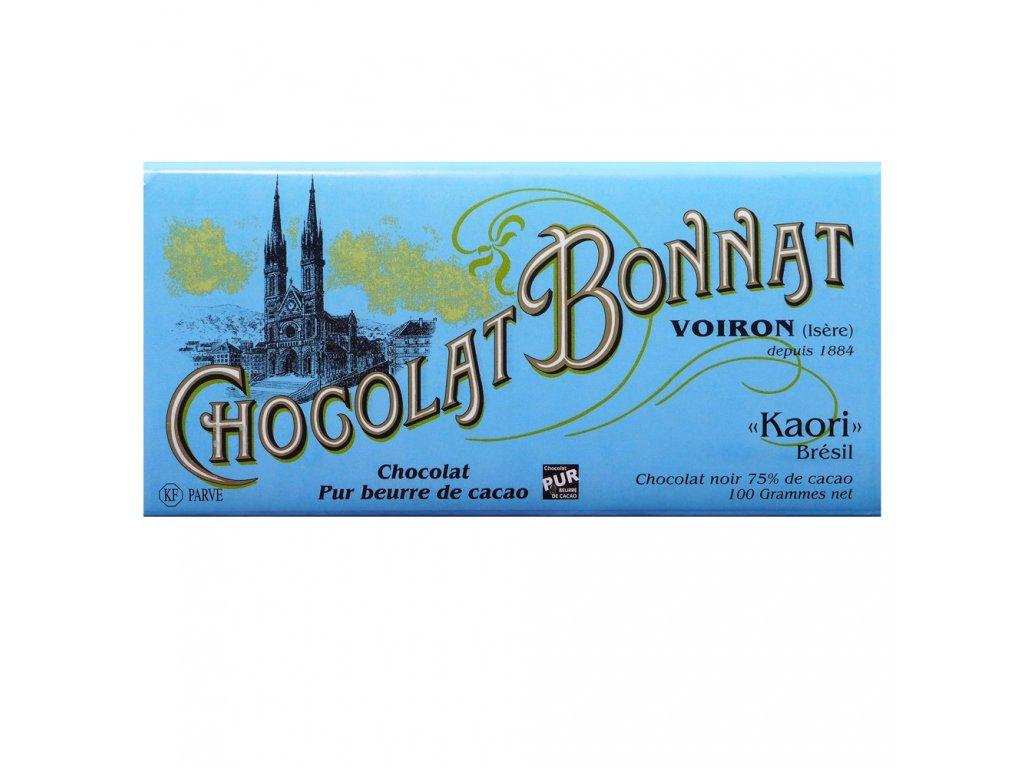 Čokoláda Bonnat Kaori 75%, 100g