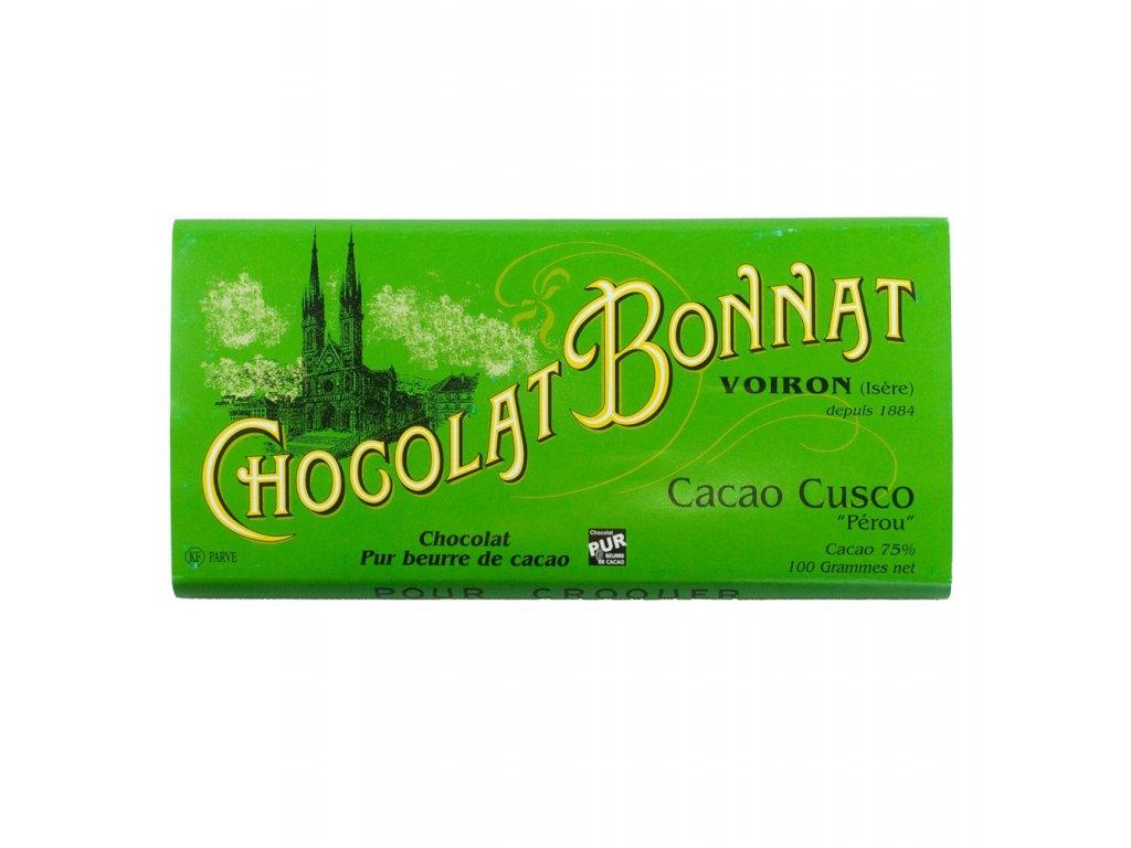 Čokoláda Bonnat Cuzco 75%, 100g