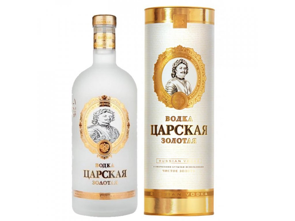 Carskaja Imperial Gold 40%, 1l, v tube