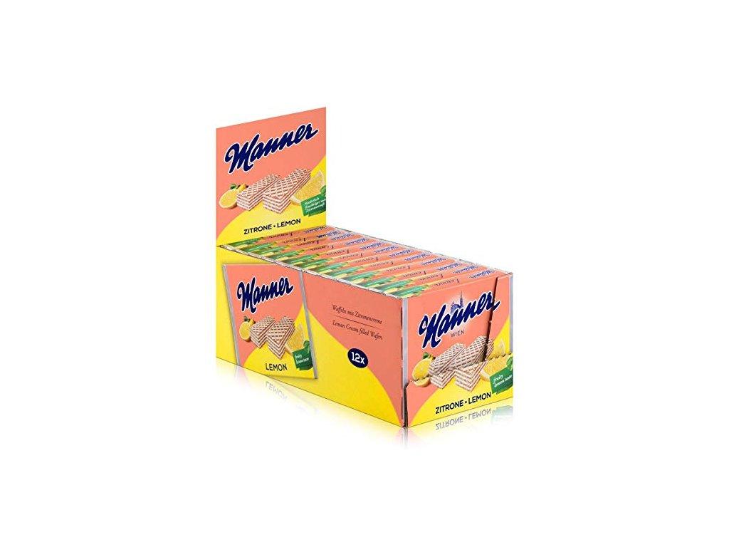 Manner Neapolitaner 75g x 12 citrónová príchuť