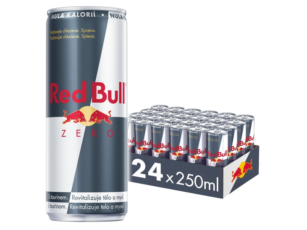 Red Bull Zero energetický nápoj 24x250 ml