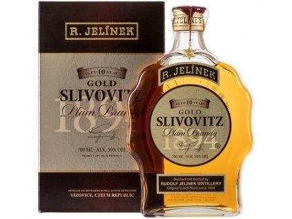 Slivovitz Kosher zlatá 10YO budík 50% 0,70l