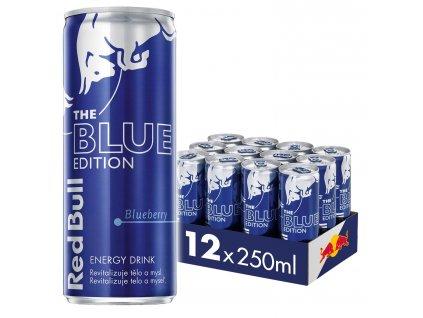 Red Bull Blue edition energetický nápoj 12x250 ml