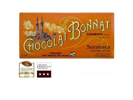 Čokoláda Bonnat Lait Grands Crus Surabaya 65%, 100g
