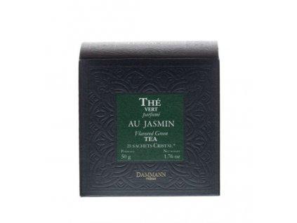 Dammann Fréres Sachets Box Jasmin, aromatizovaný, 25 x 2 gr. 3794, zelený čaj, porciovaný, v krištáľových sáčkoch