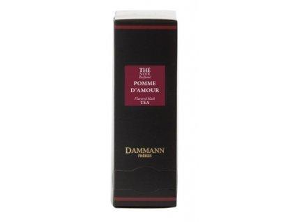 Dammann Fréres Sachets Pomme D'Amour ochutený, 24 x 2 gr., 4994, čierny čaj, porciovaný, v krištáľových sáčkoch, hygienicky balené