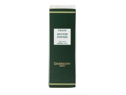 Dammann Fréres Sachets Menthe Poivrée - Mäta / Peppermint 24 x 1,2 gr. 5681, bylinný čaj, porciovaný, v krištáľových sáčkoch, hygienicky balené