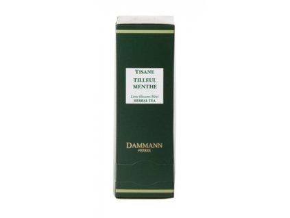 Dammann Fréres Sachets Tilleul Menthe, lipa - mäta 24 x 2 gr. 8050, bylinný čaj, porciovaný, v krištáľových sáčkoch, hygienicky balené