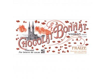 Čokoláda Bonnat Fraize Lait 55%, 100g