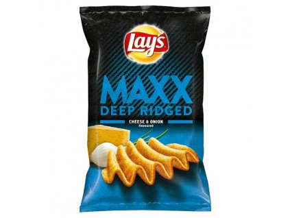 Lay's Maxx Vyprážané zemiakové lupienky s príchuťou syra a cibuľky 130 g