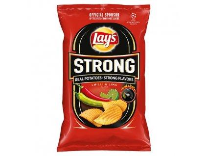 Lay's Strong Vyprážané zemiakové lupienky s príchuťou chilli a limetky 130 g