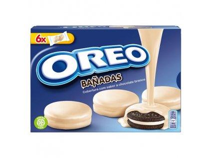 Oreo sušienky s vanilkovou náplňou, biela poleva 246 g