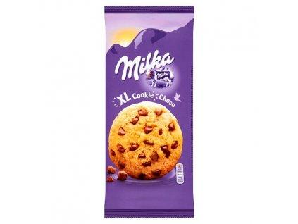 Milka XL Cookie Choco sušienky s veľkými kúskami čokolády 184 g