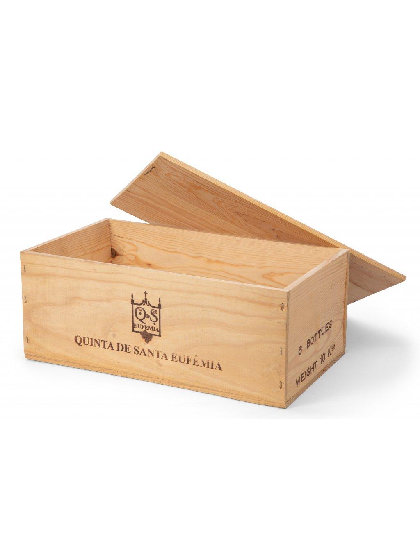 Dřevěný karton na 6 láhví