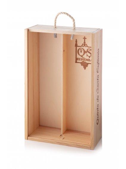 Dřevěná krabička na 2 láhve