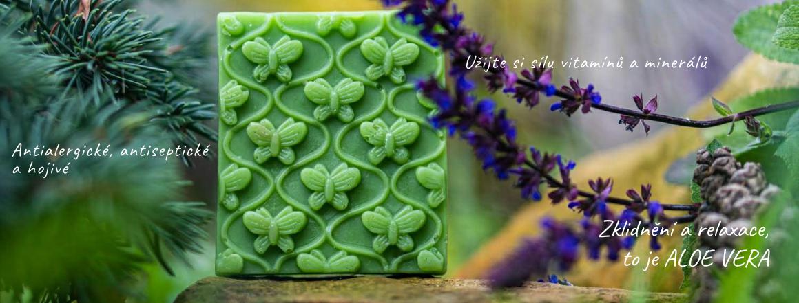 Antibakteriální tuhé mýdlo ručně vyrobené Aloe Vera