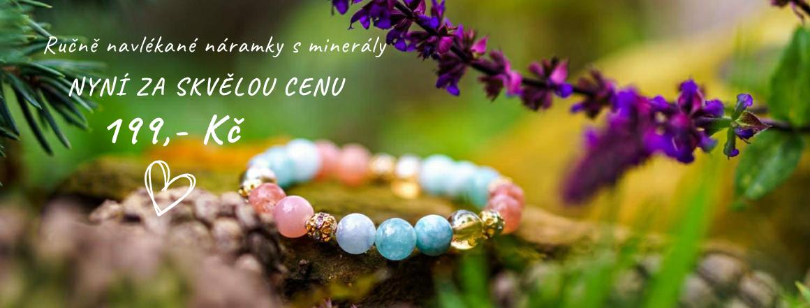 Náramky s minerálními kameny pro ženy