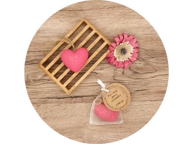 Mýdlo s vůní višně a marcipánu - srdce velké 40 g