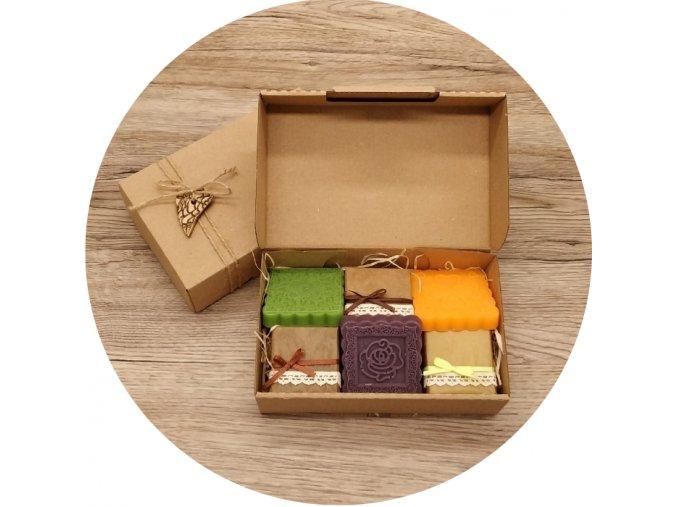 Dárková krabička ručně vyráběná mýdla antibakteriální a antiseptická II.