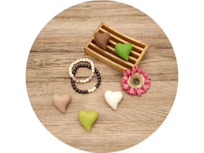 Valentýn srdce sada zelená
