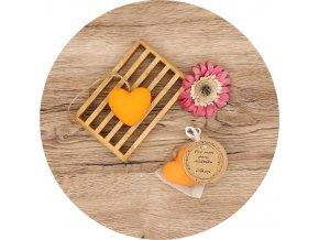 Mýdlo s vůní mandarinky - srdce velké 40 g