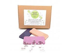 kreativní sada na výrobu mýdel - vykrajovací fialová