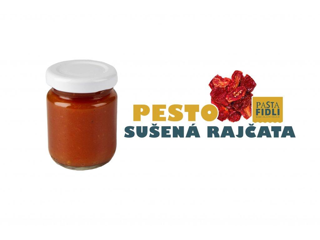 Čerstvé a ručně vyrobené rajčatové pesto ze sušených rajčat