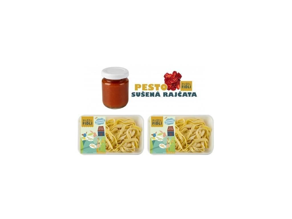 Tagliatelle s rajčatovým pestem - Rodinná večere od Pasta Fidli