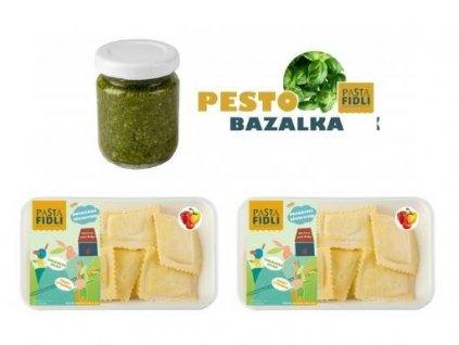 Bazalkové ravioli se sušenými rajčaty - Rodinný oběd od Pasta Fidli