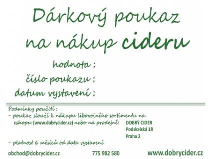Dárkový voucher pro nákup cideru 200 Kč