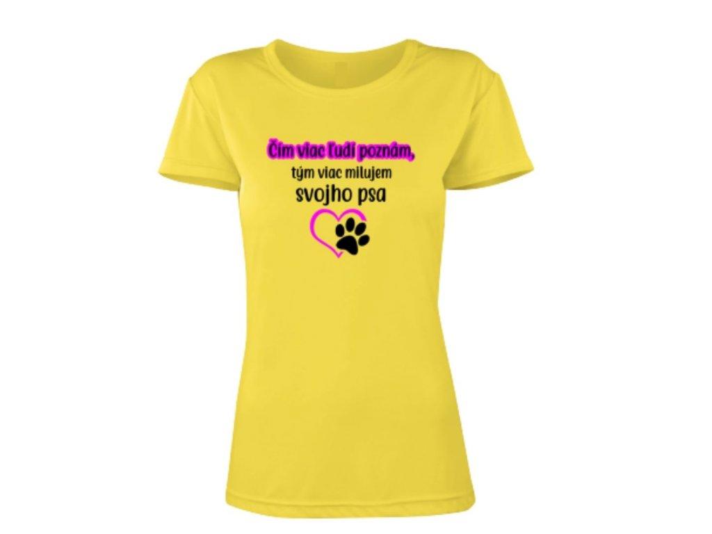 tričko žlté dámske pes
