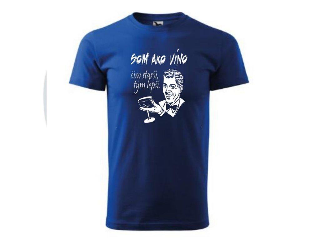 tričko1526 1 vino modre motiv1