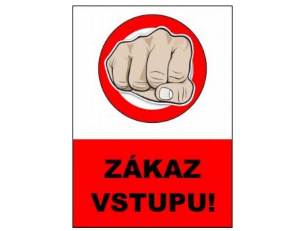 tabulka zakaz vstupu