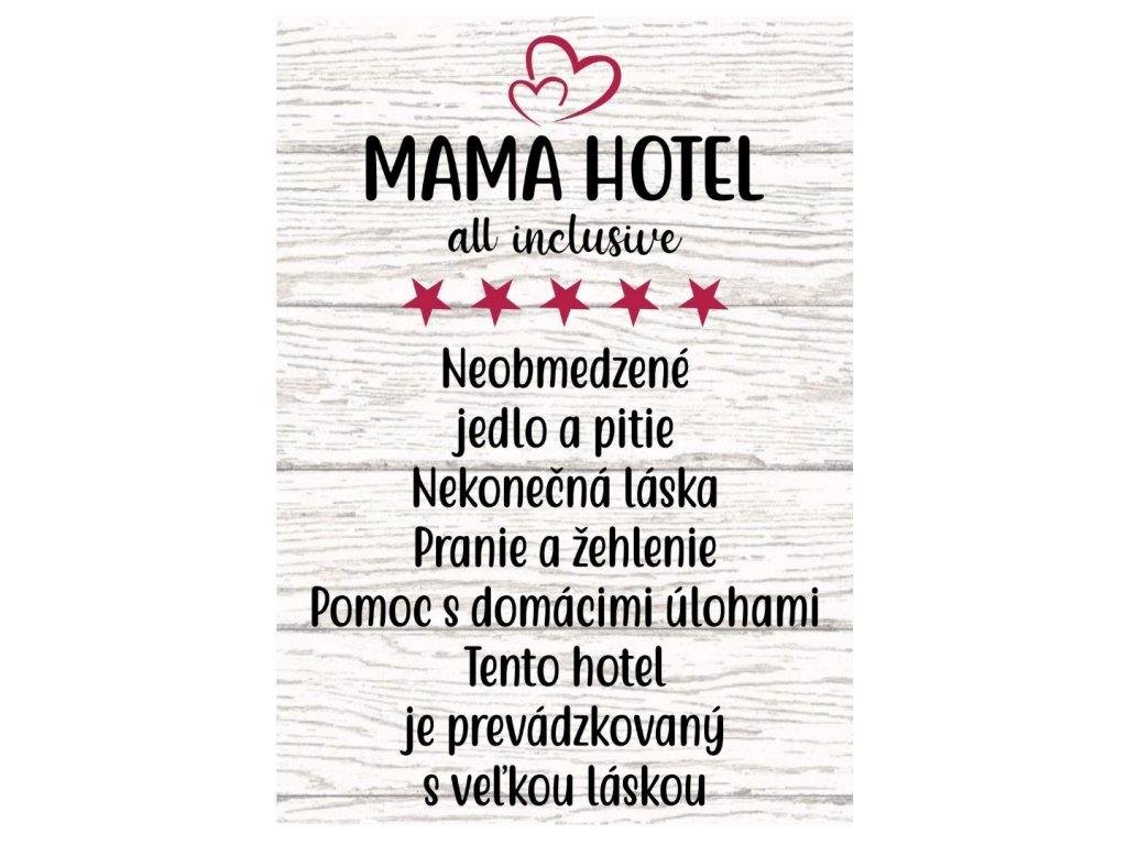 tabulkaMAMA HOTEL