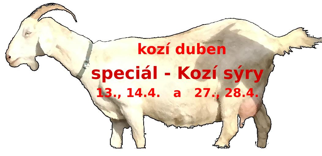 Kozí duben - speciály Kozí sýry v dubnu