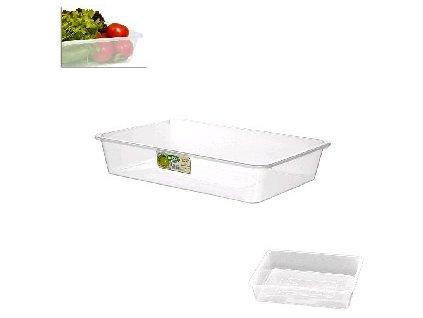 Miska (box) hranatá - transparentní - 30x21x6,3cm