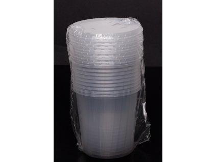 Kelímek s víčkem - 500 ml, transparent - balení 1ks/cena od 500ks