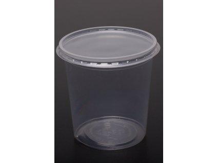 Kelímek průhledný s víčkem 500 ml - balení 1ks/ cena od 500ks