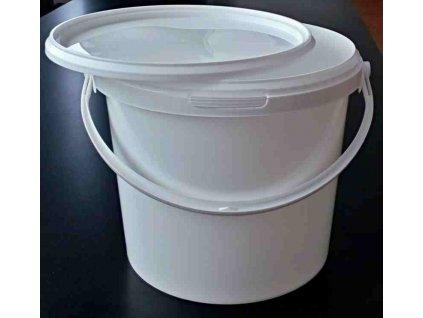 Kbelík kulatý s víkem - 5,6l bílý