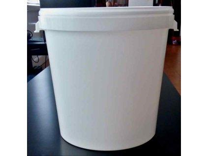 Kbelík kulatý s víkem - 31,5l bílý
